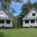 View of two Lakeside Chalets at Jocko's Beach Resort & Motel