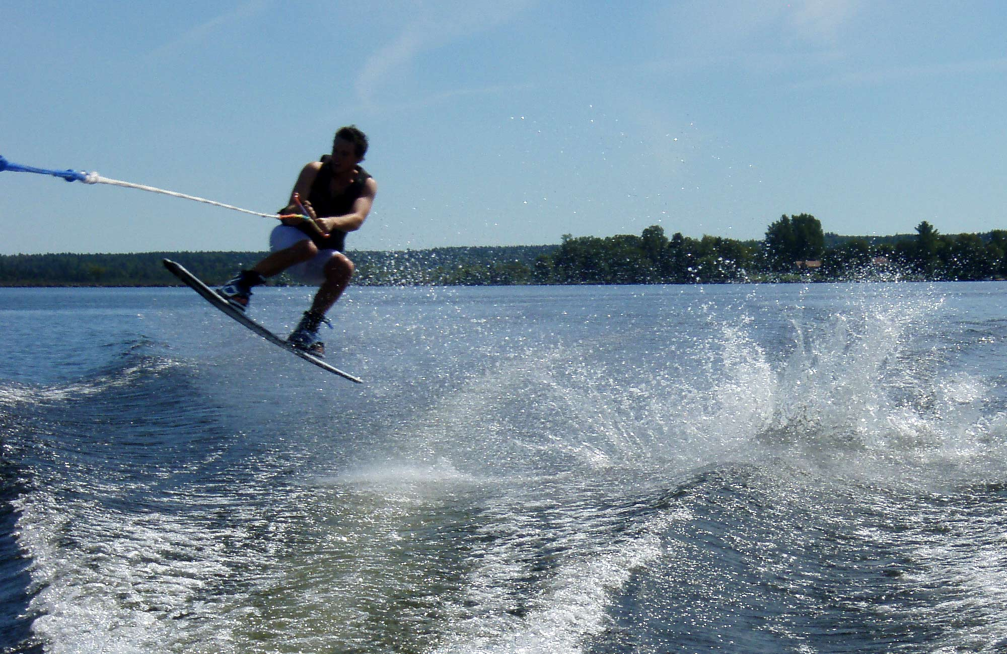 Wake boarder on Calabogie Lake