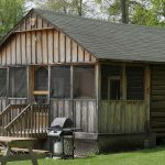 Cabin 7 - one of the Seasonal Lakeside Log Cabins at Jocko's Beach Resort & Motel