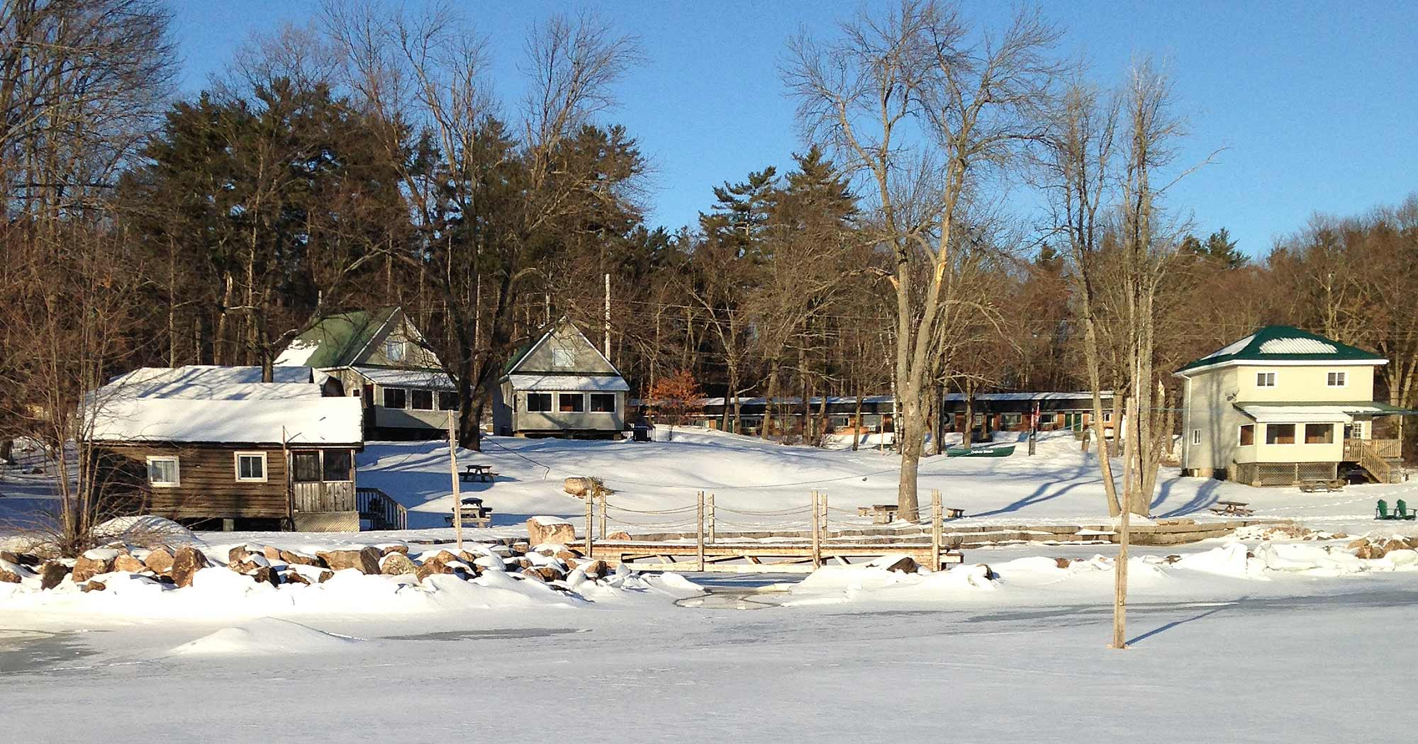 View of Jocko's Beach Resort & Motel  in winter
