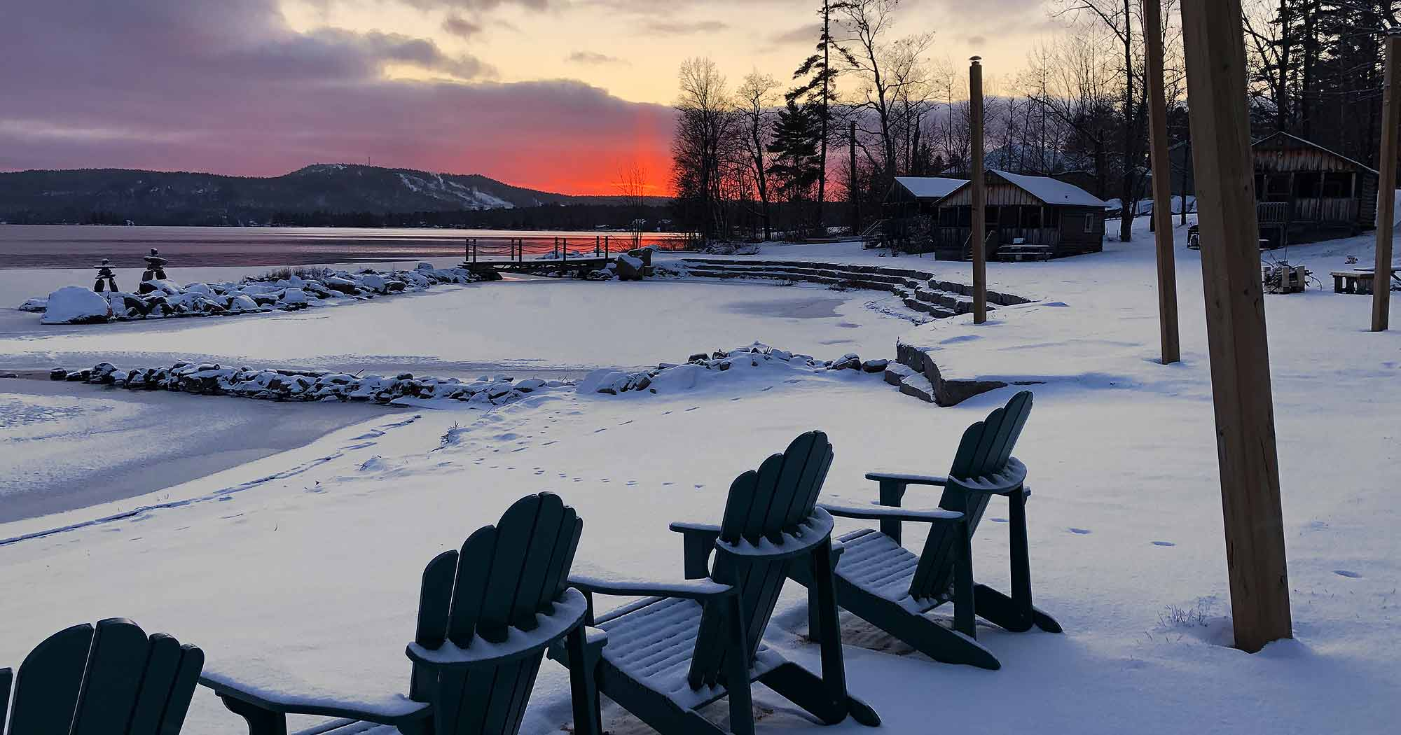 Winter view at the lake, Jocko's Beach Resort and Motel